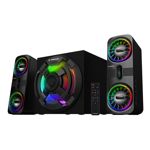 Rampage RMS-311 SHARD 2+1 80W Siyah USB,FM,Bluetooth,HMDI,Optica Rgb Işıklı Speaker